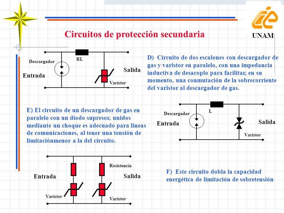 Circuitos de protección secundaria