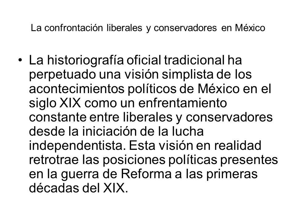 La confrontación liberales y conservadores en México