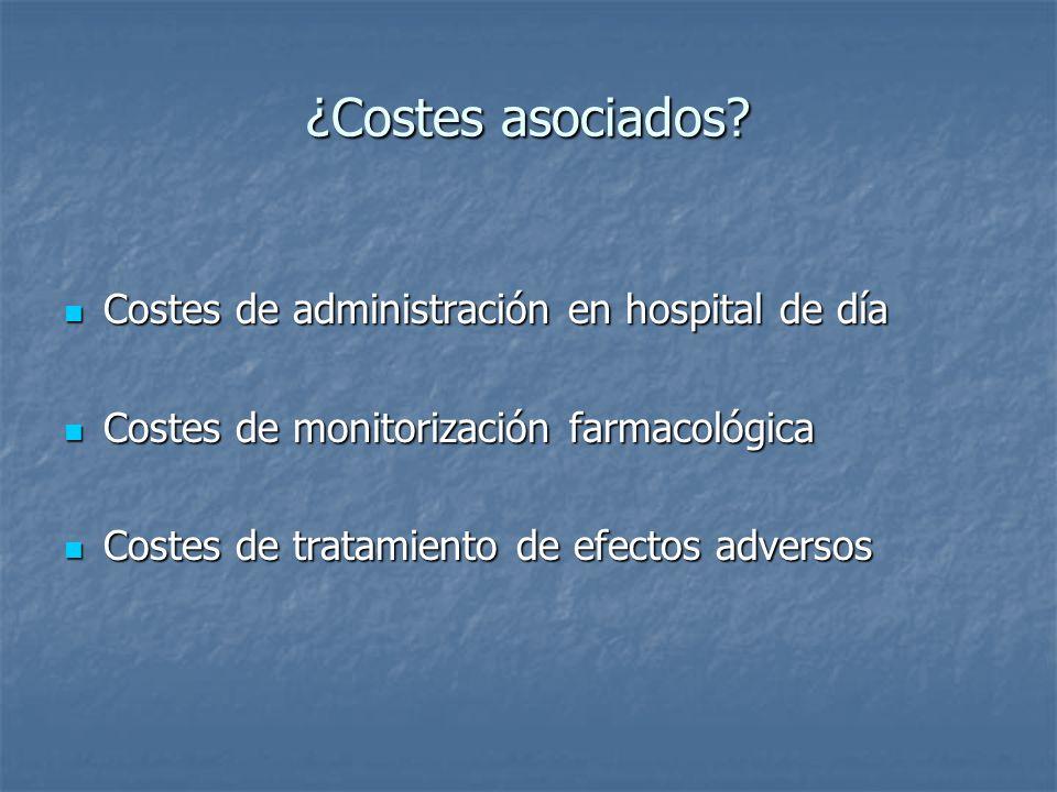¿Costes asociados Costes de administración en hospital de día