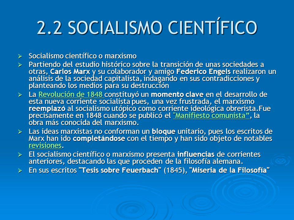 2.2 SOCIALISMO CIENTÍFICO