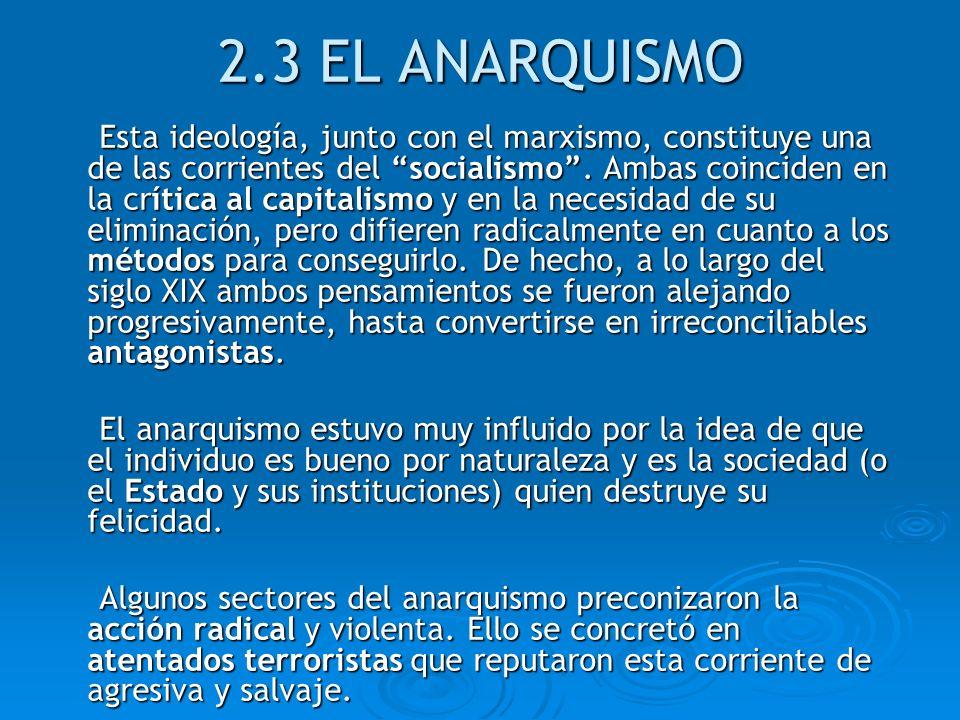 2.3 EL ANARQUISMO