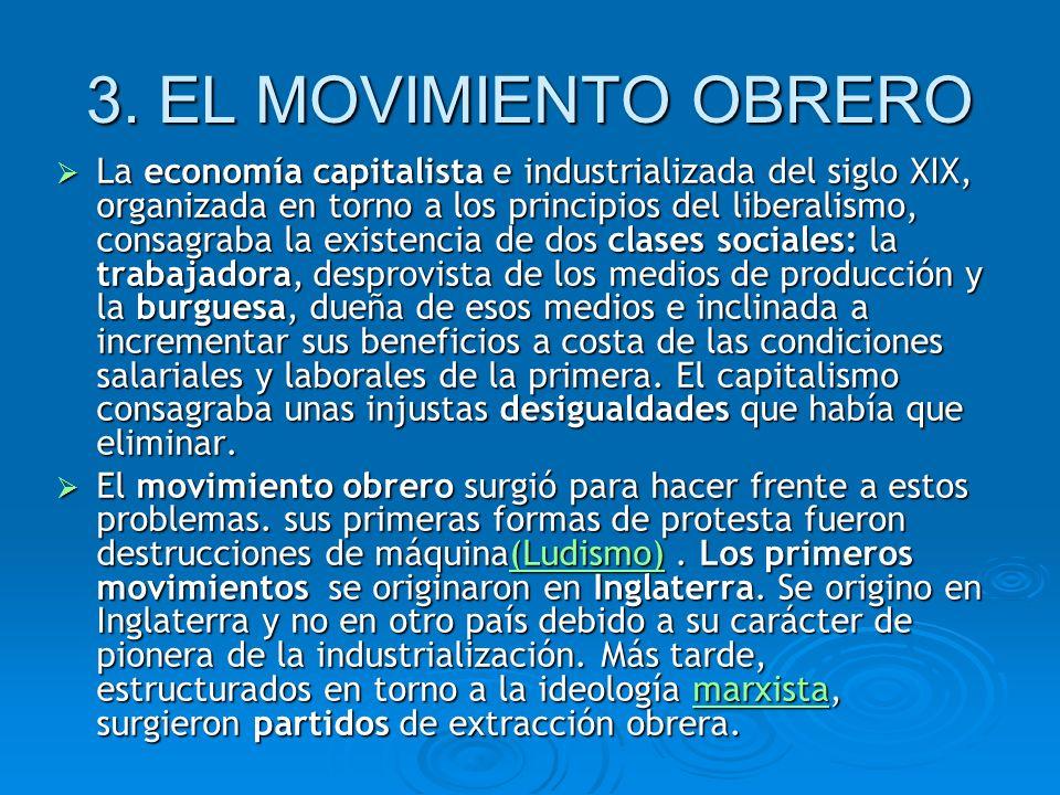 3. EL MOVIMIENTO OBRERO