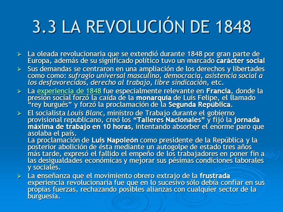 3.3 LA REVOLUCIÓN DE 1848