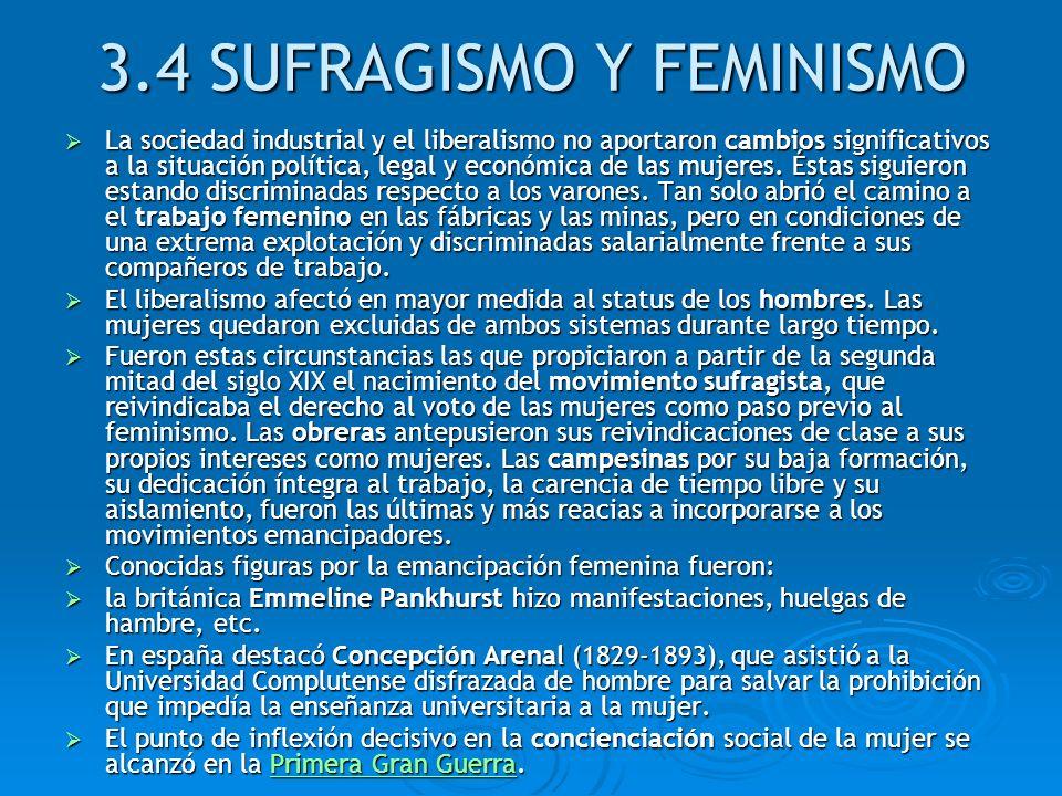 3.4 SUFRAGISMO Y FEMINISMO