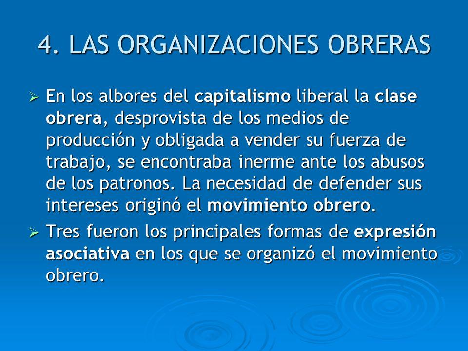 4. LAS ORGANIZACIONES OBRERAS