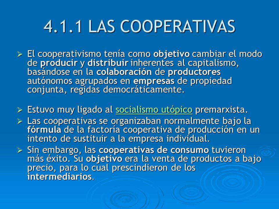 4.1.1 LAS COOPERATIVAS