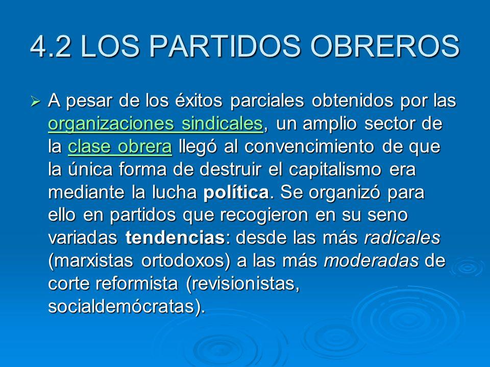 4.2 LOS PARTIDOS OBREROS