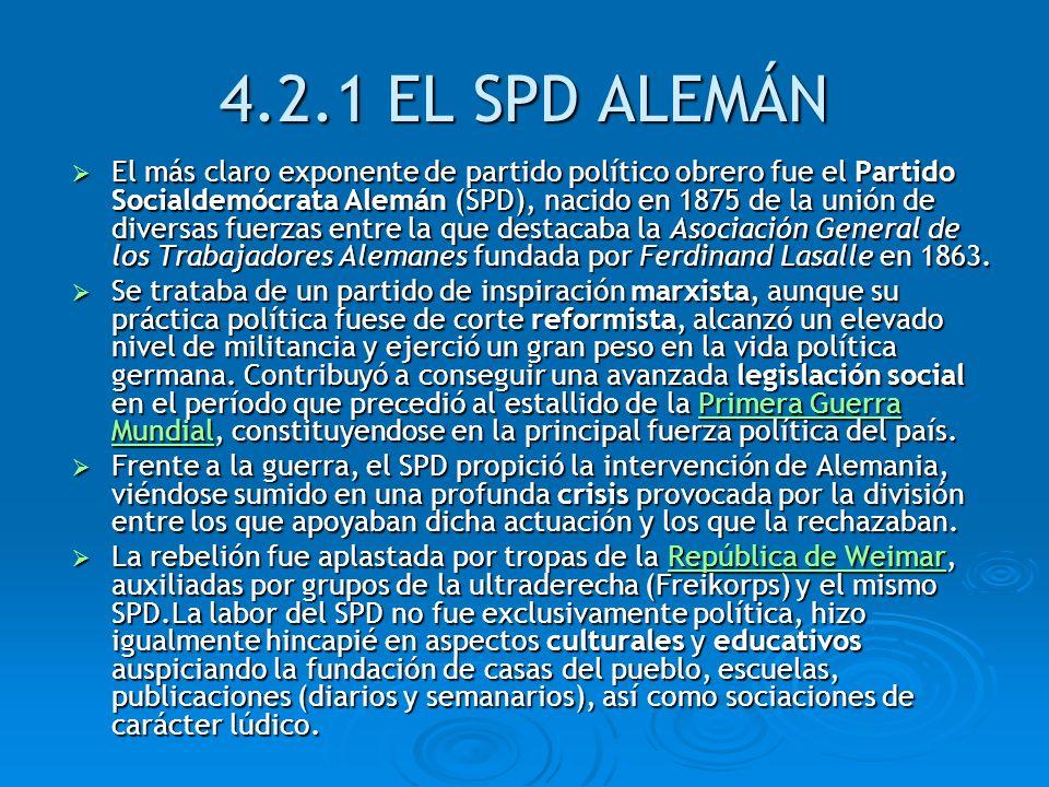 4.2.1 EL SPD ALEMÁN