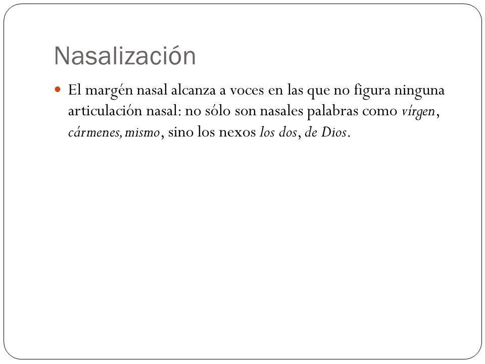 Nasalización
