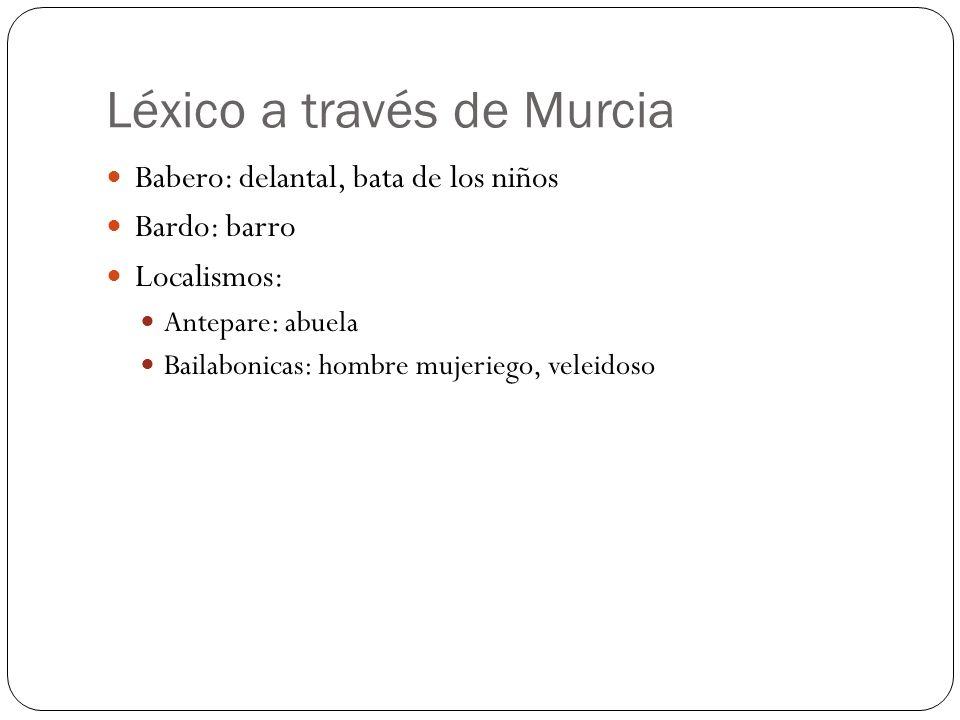 Léxico a través de Murcia