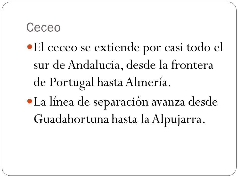 La línea de separación avanza desde Guadahortuna hasta la Alpujarra.