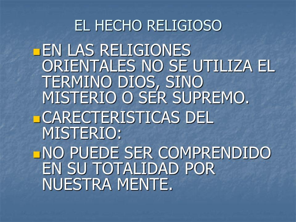 CARECTERISTICAS DEL MISTERIO: