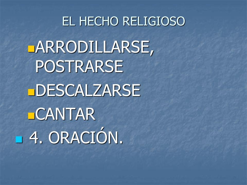 ARRODILLARSE, POSTRARSE DESCALZARSE CANTAR 4. ORACIÓN.