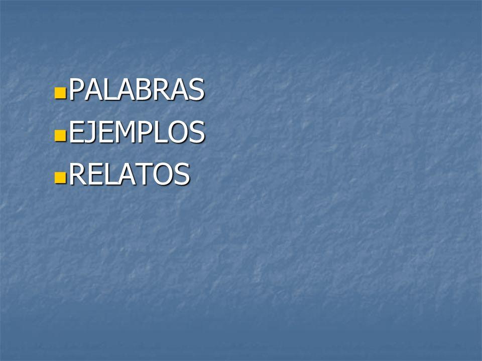 PALABRAS EJEMPLOS RELATOS