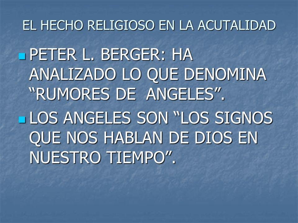 EL HECHO RELIGIOSO EN LA ACUTALIDAD
