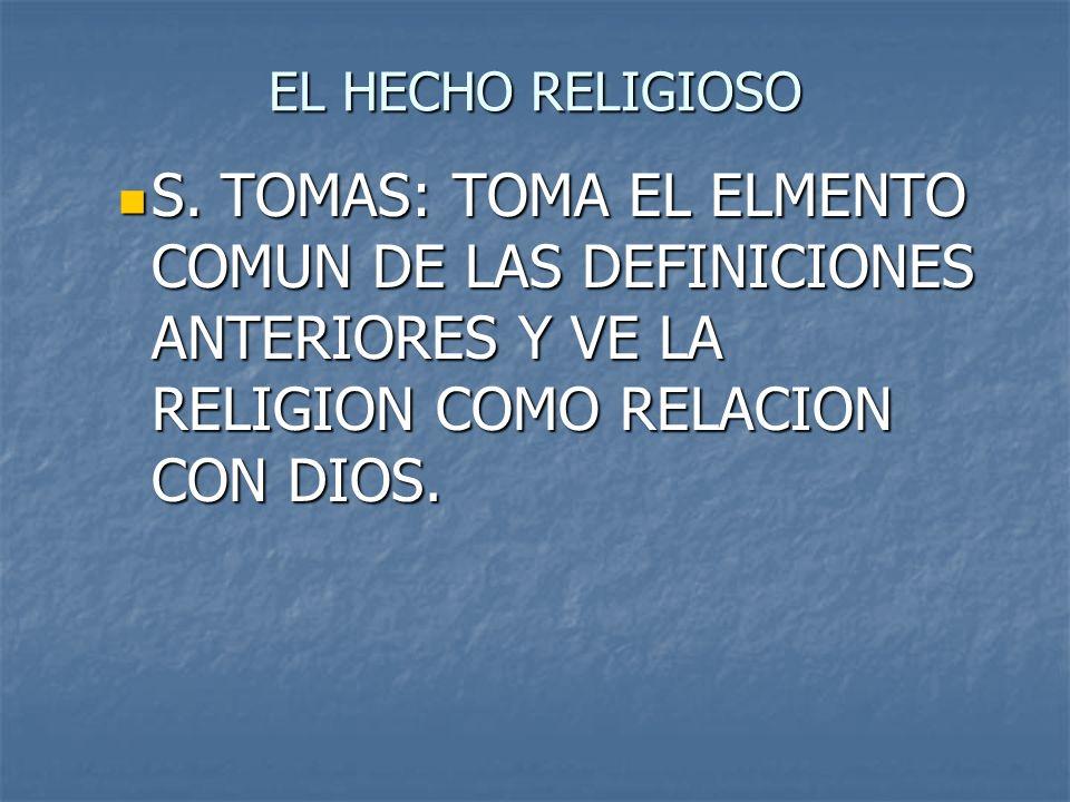 EL HECHO RELIGIOSOS.