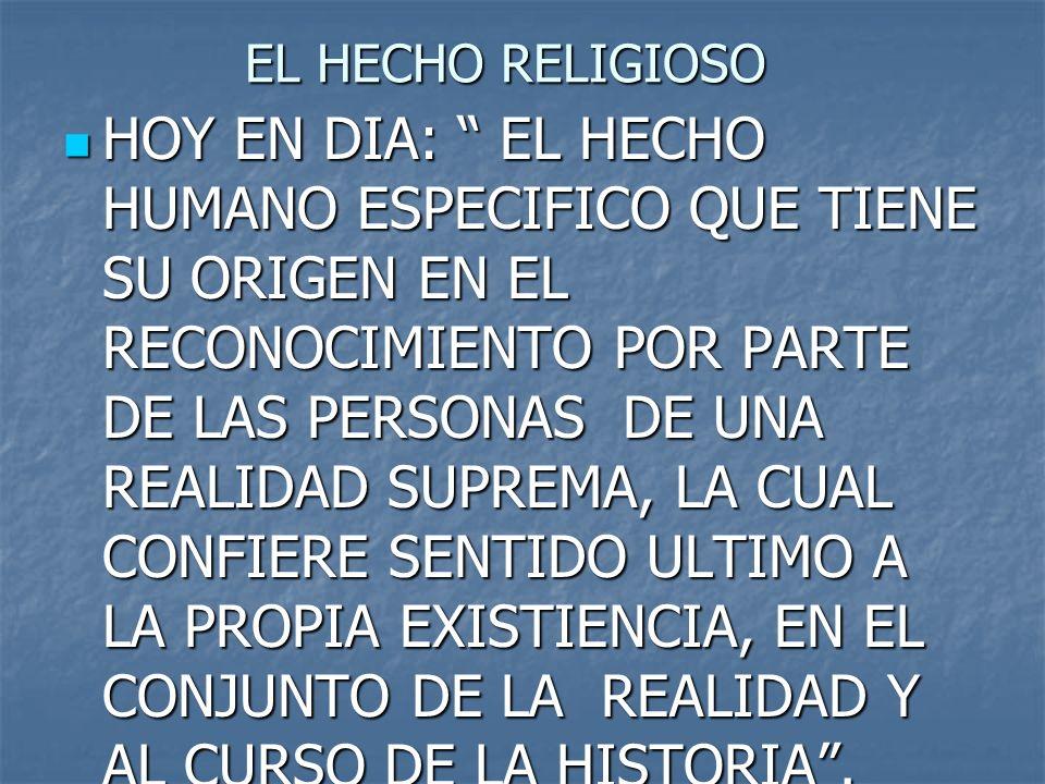 EL HECHO RELIGIOSO