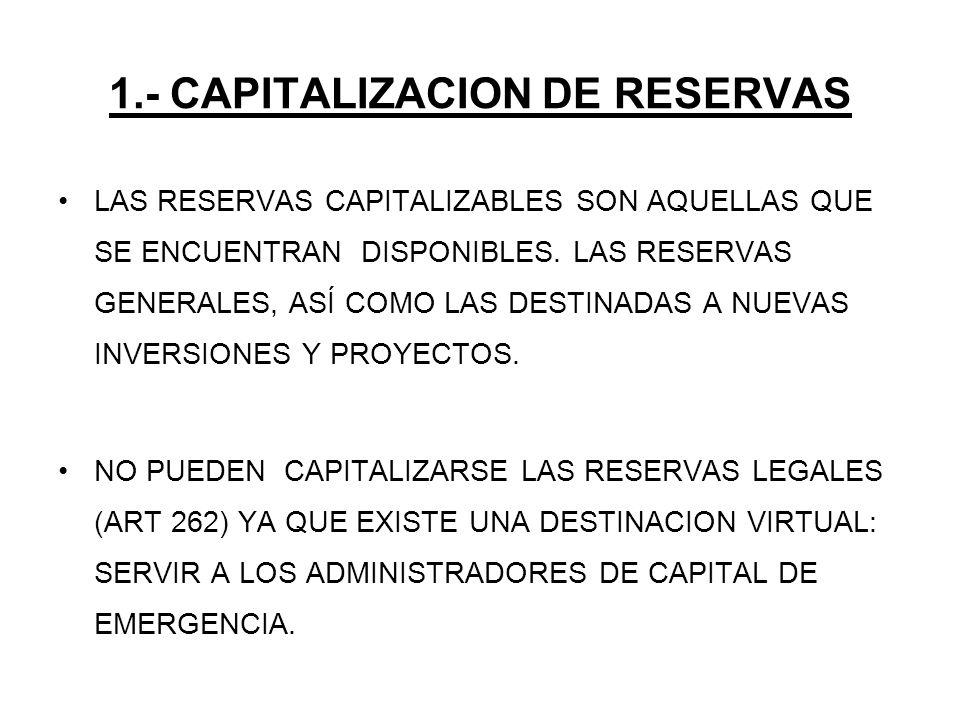 1.- CAPITALIZACION DE RESERVAS