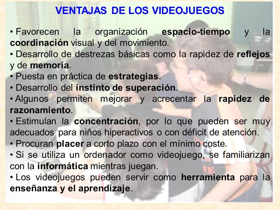 VENTAJAS DE LOS VIDEOJUEGOS