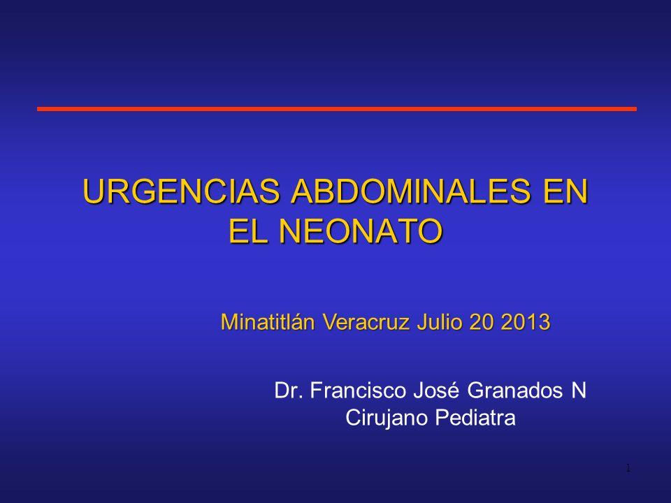 URGENCIAS ABDOMINALES EN EL NEONATO