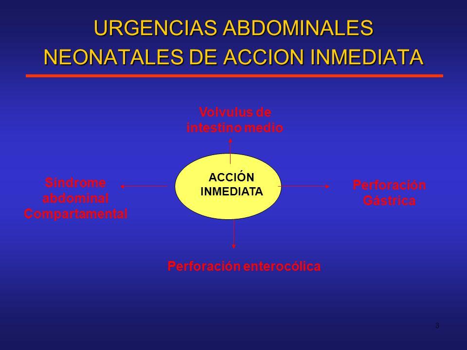 URGENCIAS ABDOMINALES NEONATALES DE ACCION INMEDIATA