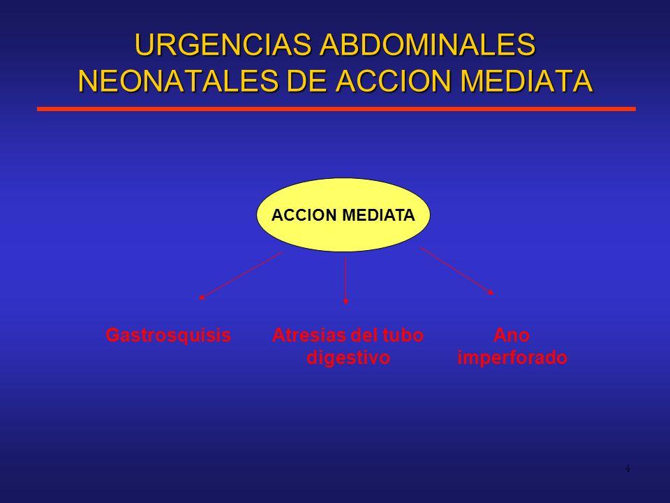 URGENCIAS ABDOMINALES NEONATALES DE ACCION MEDIATA