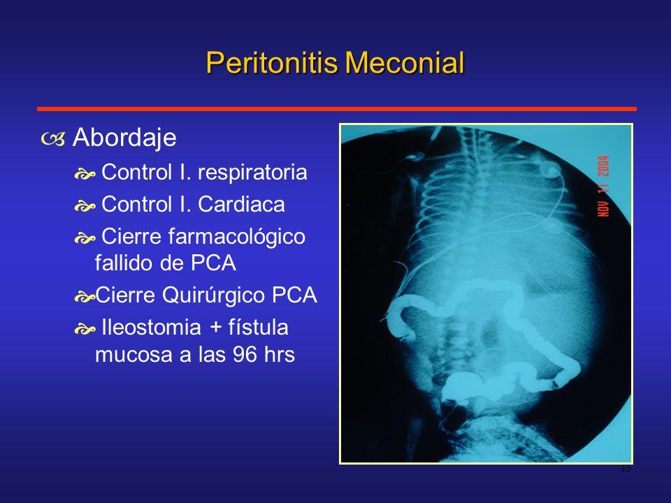 Peritonitis Meconial Abordaje Control I. respiratoria