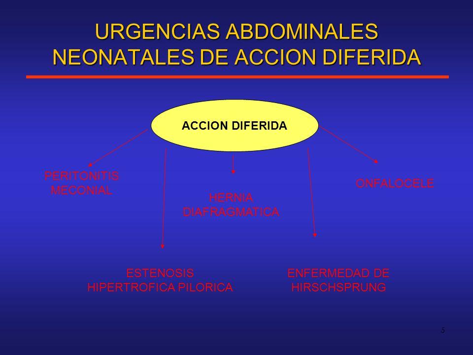 URGENCIAS ABDOMINALES NEONATALES DE ACCION DIFERIDA