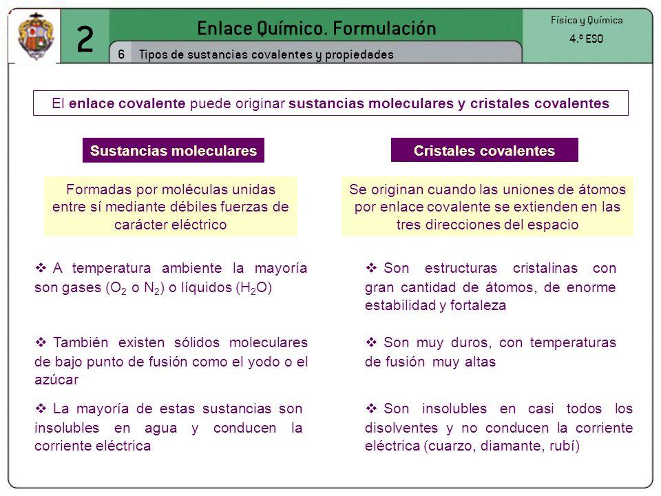 Sustancias moleculares