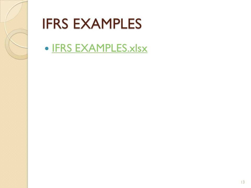 IFRS EXAMPLES IFRS EXAMPLES.xlsx