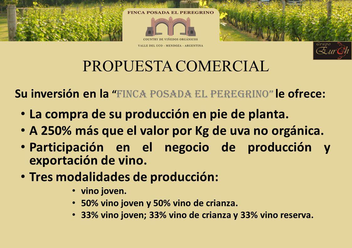 PROPUESTA COMERCIAL La compra de su producción en pie de planta.