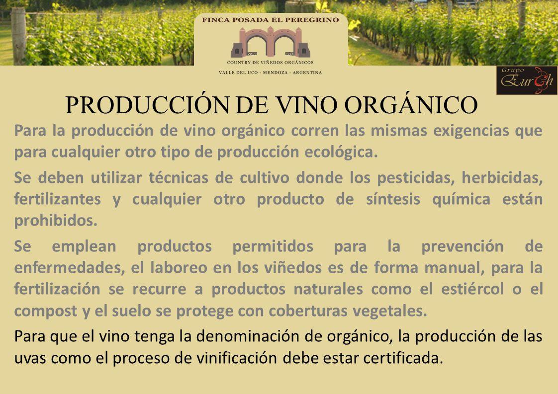 PRODUCCIÓN DE VINO ORGÁNICO