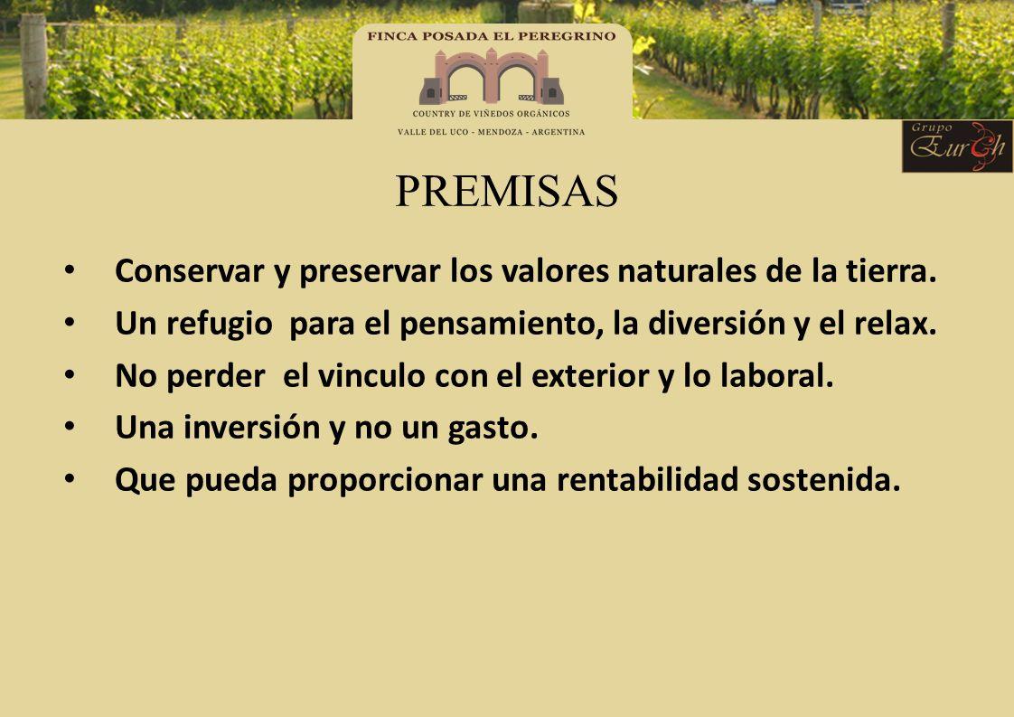 PREMISAS Conservar y preservar los valores naturales de la tierra.