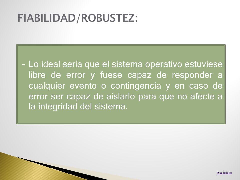 FIABILIDAD/ROBUSTEZ: