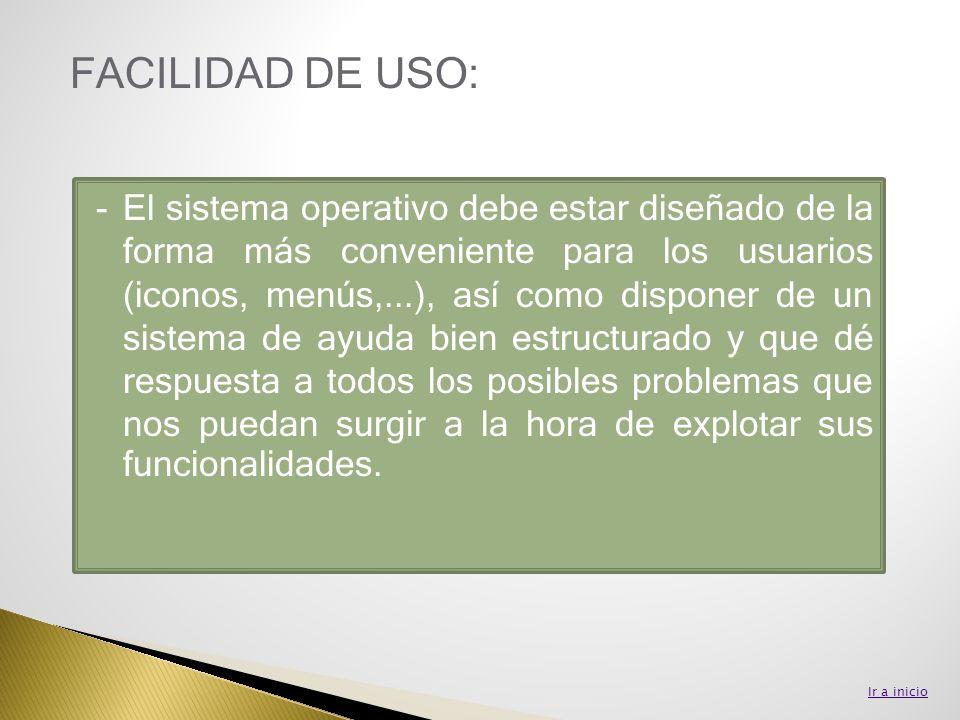 FACILIDAD DE USO: