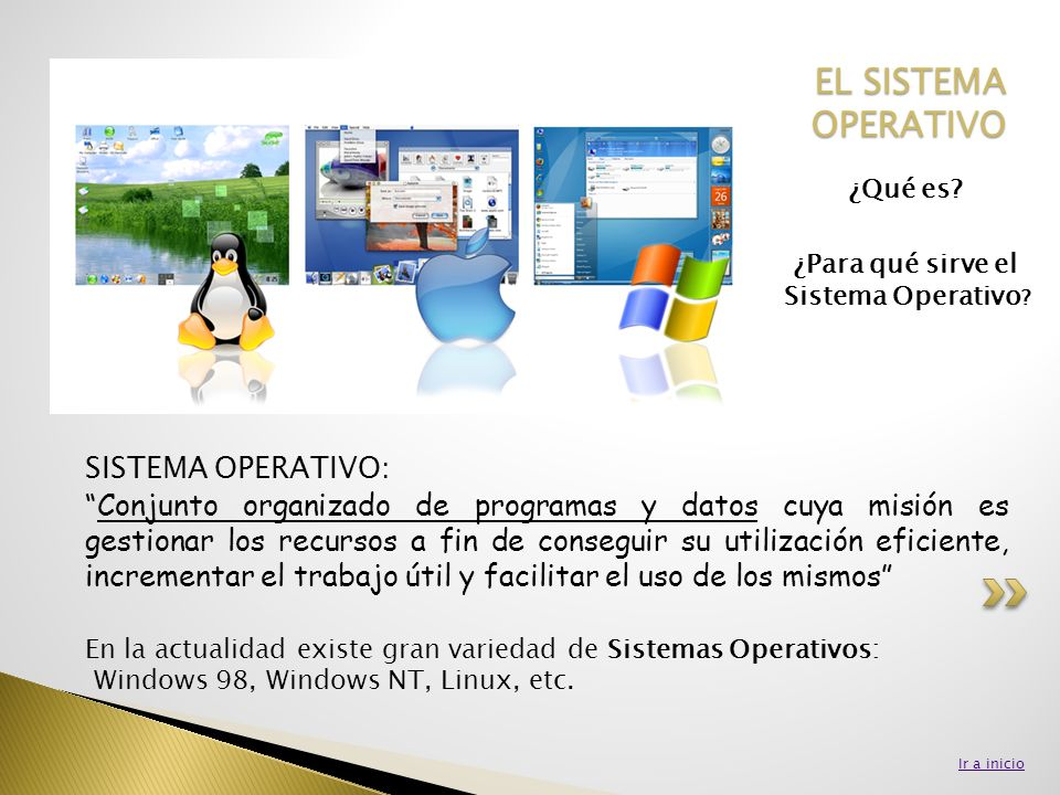¿Para qué sirve el Sistema Operativo