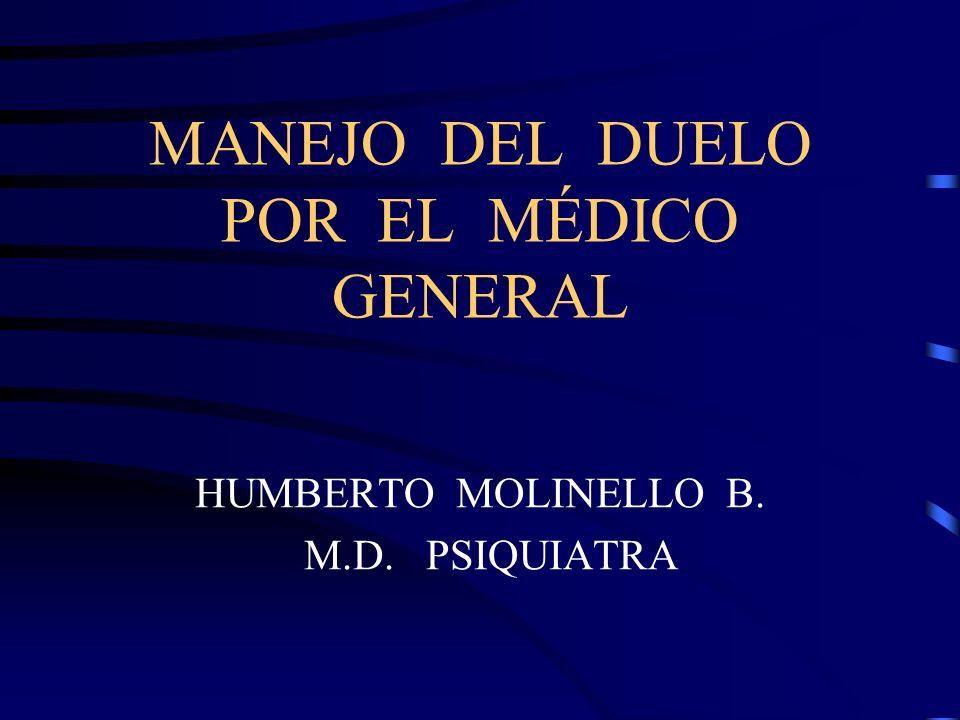 MANEJO DEL DUELO POR EL MÉDICO GENERAL