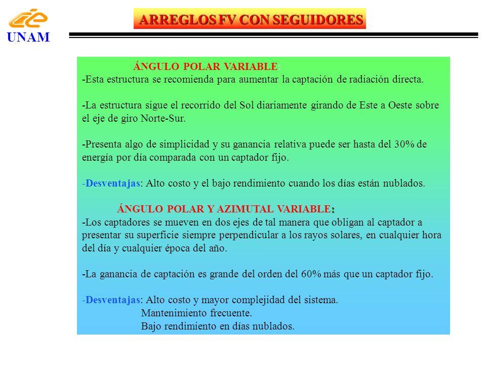 ARREGLOS FV CON SEGUIDORES