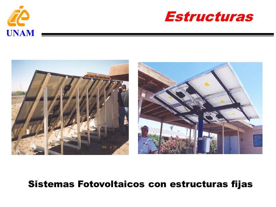 Estructuras UNAM Sistemas Fotovoltaicos con estructuras fijas