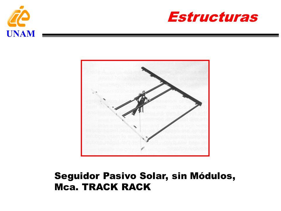 Estructuras UNAM Seguidor Pasivo Solar, sin Módulos, Mca. TRACK RACK