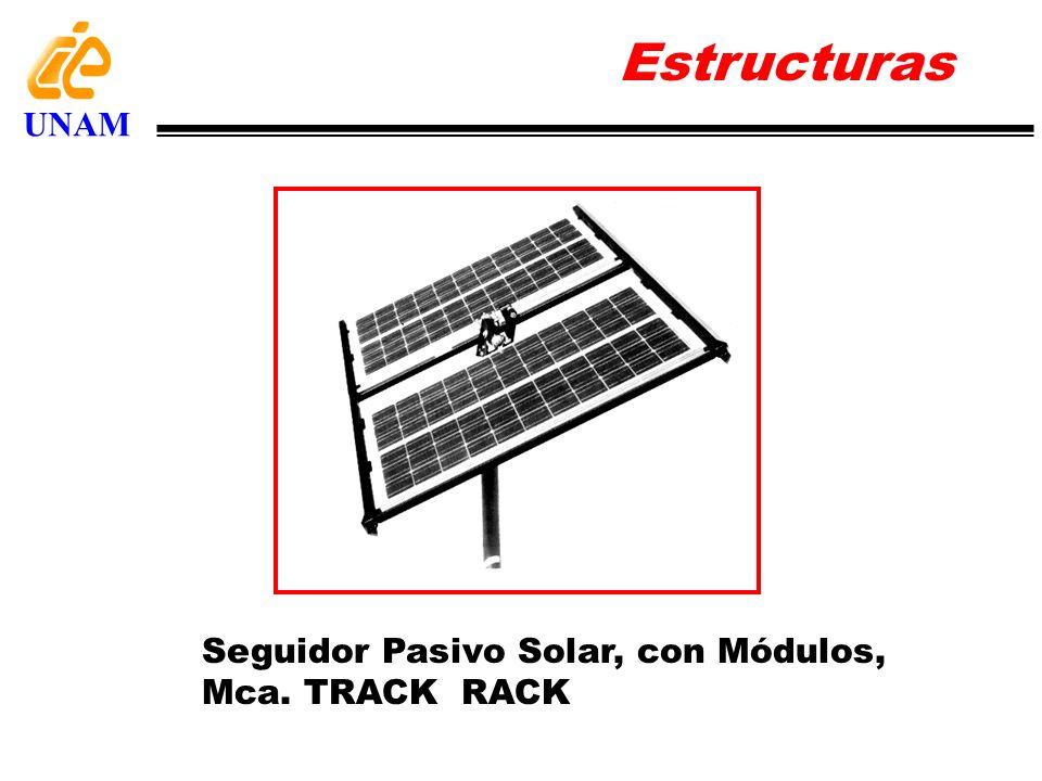 Estructuras UNAM Seguidor Pasivo Solar, con Módulos, Mca. TRACK RACK