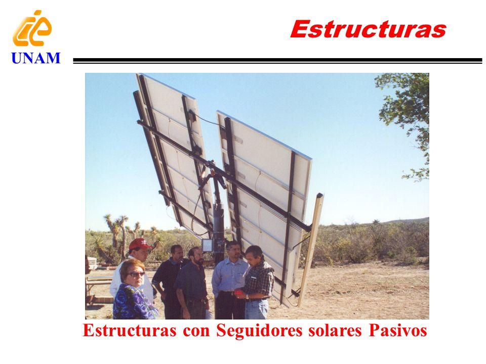 Estructuras UNAM Estructuras con Seguidores solares Pasivos