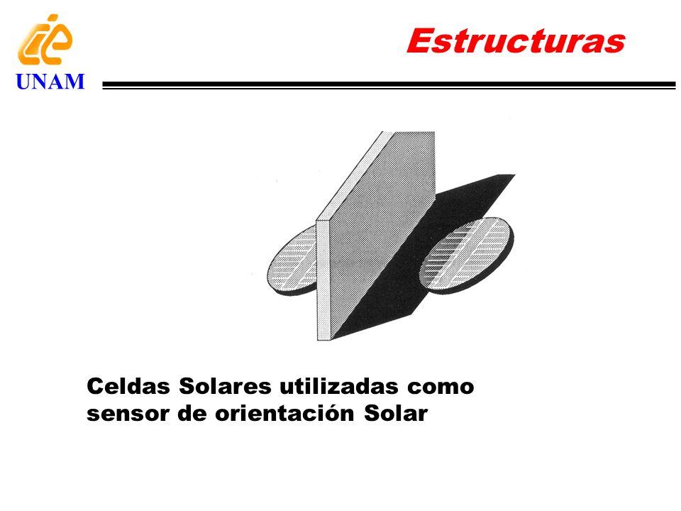 Estructuras UNAM Celdas Solares utilizadas como sensor de orientación Solar