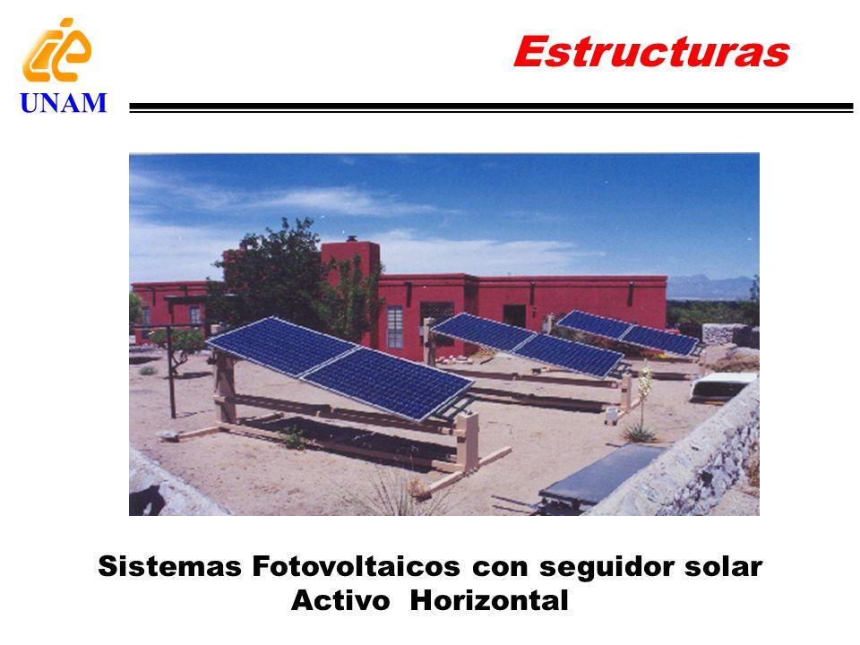 Sistemas Fotovoltaicos con seguidor solar Activo Horizontal