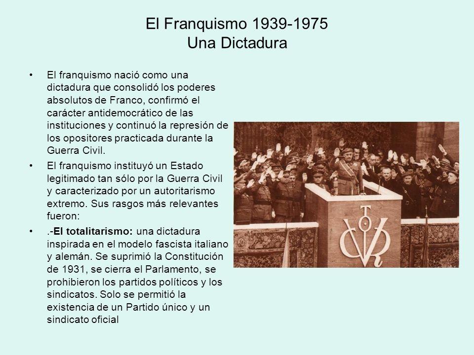 El Franquismo 1939-1975 Una Dictadura