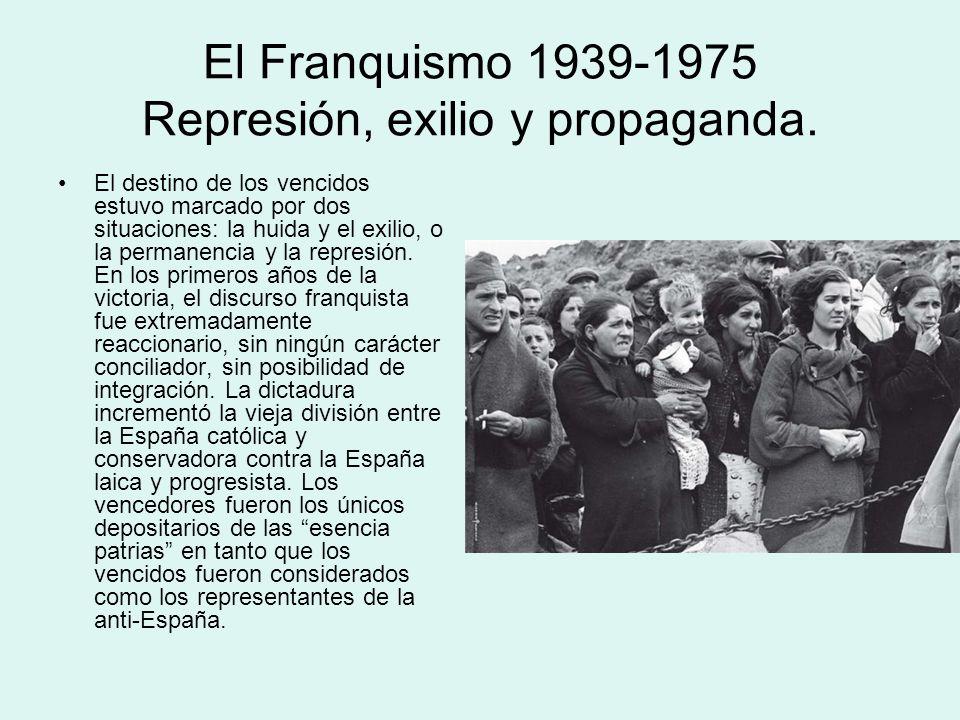 El Franquismo 1939-1975 Represión, exilio y propaganda.