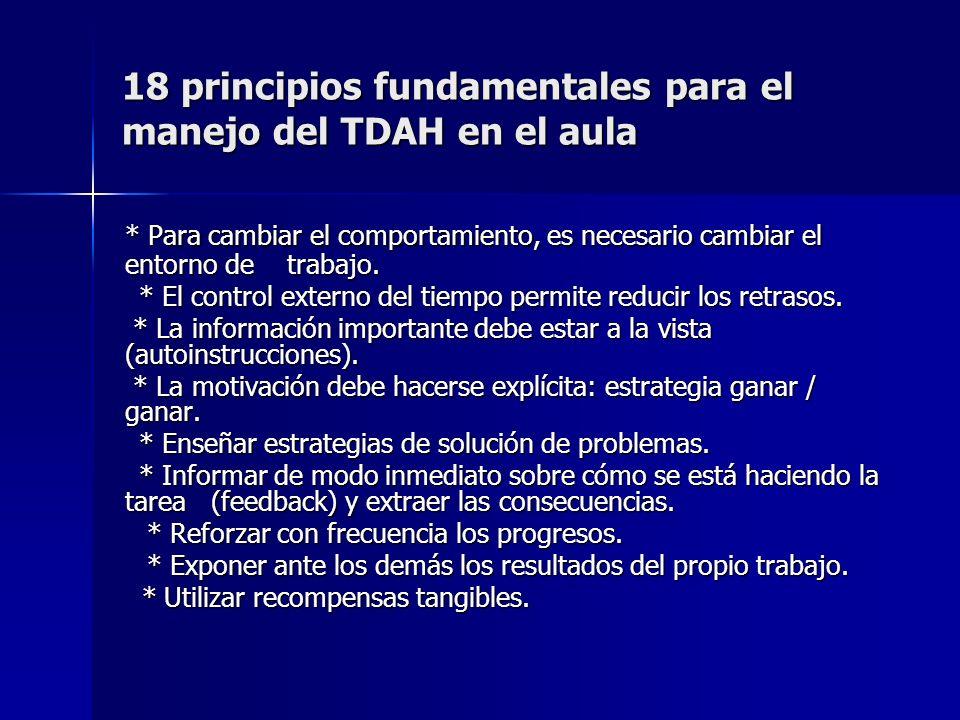18 principios fundamentales para el manejo del TDAH en el aula