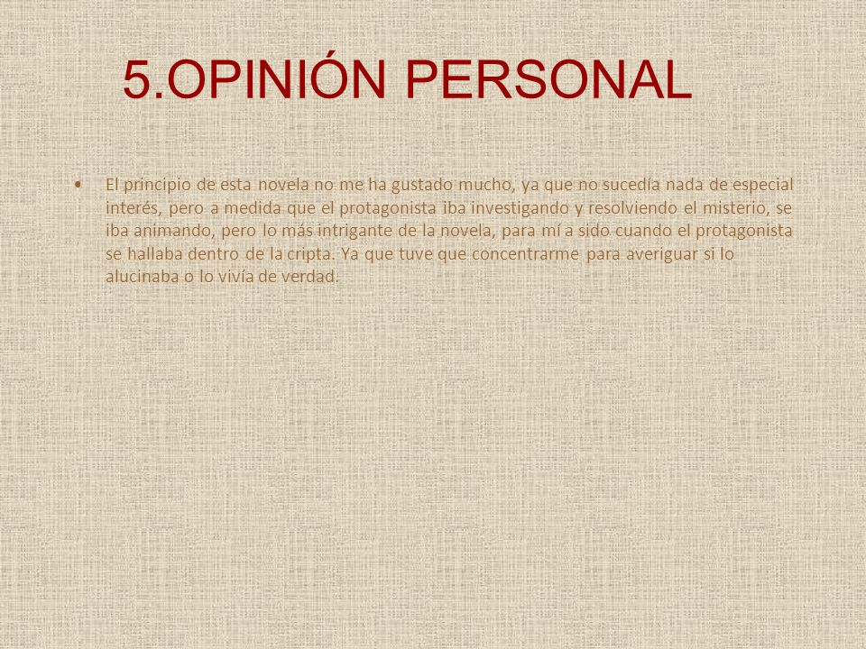 5.OPINIÓN PERSONAL