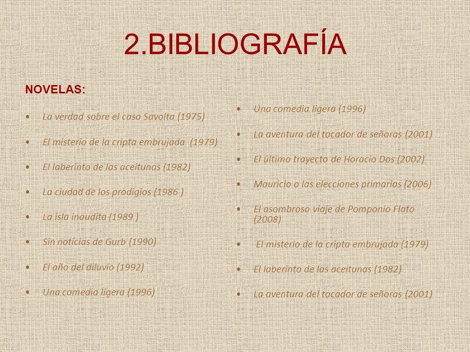 2.BIBLIOGRAFÍA NOVELAS: La verdad sobre el caso Savolta (1975)