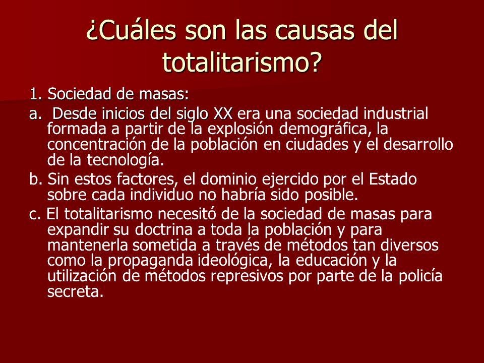 ¿Cuáles son las causas del totalitarismo